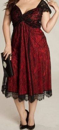 Whitby dinner date dress! Rachelle Plus Size Lace Dress in Black/Rouge - Dresses by IGIGI Pretty Outfits, Pretty Dresses, Beautiful Outfits, Gorgeous Dress, Curvy Fashion, Plus Size Fashion, Girl Fashion, Plus Size Lace Dress, Plus Size Dresses To Wear To A Wedding