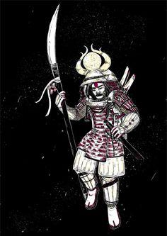 Samurai by Odrobinka.deviantart.com on @DeviantArt
