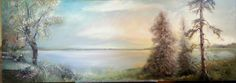"""September Morning by c.Payson Oil on Board, 12"""" x 34""""  Free Shipping! $300"""