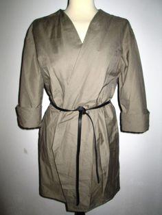 * * * HACHE Jacke mit Gürtel olive, Gr.I 42/D 36 * * * | eBay