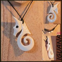 Maori spiral pendant carved in bone