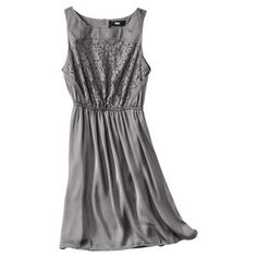 Target Mobile Site - Mossimo® Women's Satin Sleeveless Lace Bodice Dress - Assorted Colors