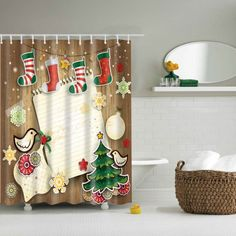 GET $50 NOW | Join RoseGal: Get YOUR $50 NOW!http://www.rosegal.com/bath-accessories-storage/3d-merry-christmas-design-waterproof-787489.html?seid=2275071rg787489