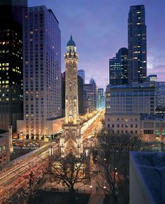 Historic Water Tower Chicago's Historic Water Tower on Michigan Avenue, the Magnificent Mile Credit: © Choose Chicago Oh The Places You'll Go, Great Places, Places To Travel, Beautiful Places, Places To Visit, Romantic Places, Beautiful Buildings, Wonderful Places, Chicago Travel