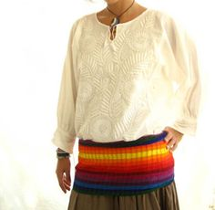 Mexican embroidered blouse folk boho chic by AidaCoronado on Etsy, $96.00