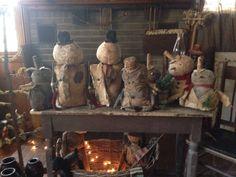 Winter dolls by Marci Stewart aka Ebays Little Country Loft