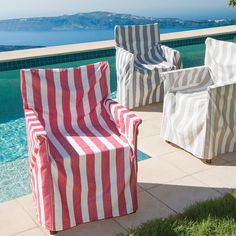 Wide Stripe Director Chair Cover