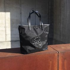 snob. 2017 All Black Collection - leather and nylon - brain tote
