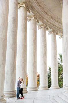 Jefferson Memorial DC Engagement Session, Fall | Procopio Photography