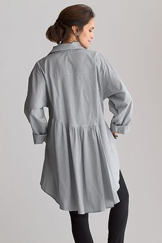 Cotton Shirt Tail Top: Planet Clothing: Cotton Woven Shirt - Artful Home