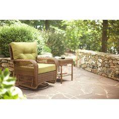 Martha Stewart Living Charlottetown Brown All Weather Wicker Patio Ottoman  With Bare Cushion 55 509556/2 At The Home Depot | Arizona Garden |  Pinterest ...