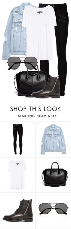"""Untitled #1936"" by annielizjung ❤ liked on Polyvore featuring Paige Denim, SJYP, rag & bone, Givenchy, Yves Saint Laurent and The Row"
