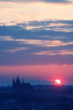 praha at sunset