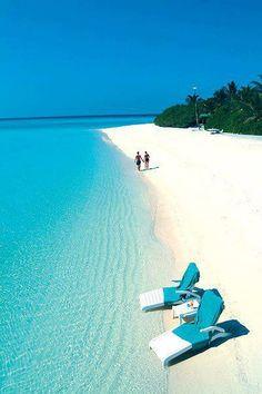 Glorious white beaches on Bora Bora Island, French Polynesia