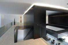 modern architecture - a-cero - 19 housing - somosaguas - madrid - spain - interior view - circulation space