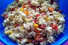 Bunter Nudelsalat ohne Mayonnaise