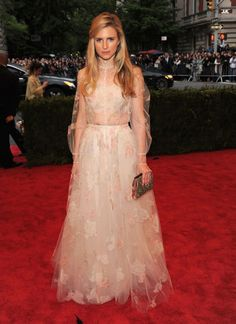 Brit Marling in Valentino at the 2012 Met Gala. Can you think of a more beautiful combination ?