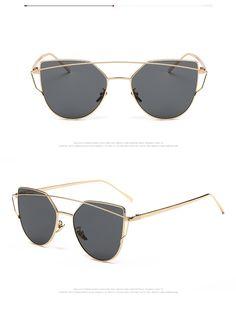 Pink vintage Mirror Women Cat Eye Sunglasses - free shipping worldwide