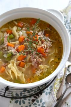 20 minute chicken noodle soup recipe, and the Greatest Soup Recipes Ever!! | Betsylife.com