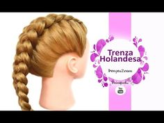 Trenza HOLANDESA para principiantes - Trenza francesa invertida | Mariana Clavel - YouTube