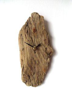 Driftwood Clock Wall Beach Clock Recycled Wood by NaturalClocks