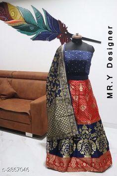 Lehengas Elegant Women's Lehenga Fabric: Lehenga - Jacquard Choli - Taffeta Silk Dupatta - Banarasi Silk  Size: Lehenga (Waist Size) - Up To 36 in Choli - 0.80 Mtr Dupatta - 2.2 Mtr  Length: Lehenga - Up To 40 in Flair: Lehenga - 2.8 Mtr Type: Lehenga - Semi - Stitched Choli - Un - Stitched Description: It Has 1 Piece Of Lehenga 1 Piece Of Choli & 1 Piece Of Dupatta Work: Lehenga - Jacquard Work Choli - Printed Dupatta - Jacquard Work Country of Origin: India Sizes Available: Un Stitched, Free Size, Semi Stitched   Catalog Rating: ★4.4 (519)  Catalog Name: Hiba Elegant Women's Lehengas Vol 13 CatalogID_389506 C74-SC1005 Code: 818-2867046-0612
