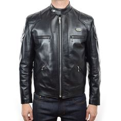 The iconic Lewis Leathers Racing Jacket, now with pockets for armour.