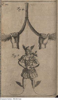 MERCURY DIVINING ROD - 1700 - Zeidler, Johann Gottfried & Thomasius, Christian, Pantomysterium, oder das Neue vom Jahre in der Wündschelruthe - deutschefotothek.de/documents/obj/88965351