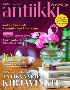 Antiikki & Design 9/2015. Magazine cover. Photo Pia Inberg, styling Irene Wichmann.