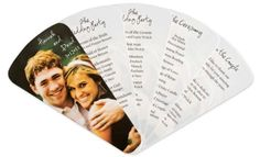 it's a program. it's a fan. it's perfect for an outdoor wedding.