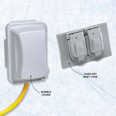 Don't Install the Wrong Cover on an Outdoor Receptacle - On outdoor receptacles, flat covers provide protection only when a receptacle isn't in use, but it's not uncommon for extension cords to be plugged in for extended periods of time