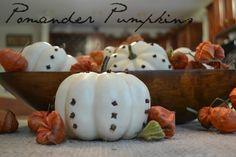 Easy Fall Decor - Pumpkin Pomanders