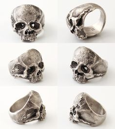 Lunatic Nights: QUETZAL [Vanitas Ring] (silver accessory / / ring /skull ring) - Purchase now to accumulate reedemable points! Gothic Wedding Rings, Skull Wedding Ring, Gothic Engagement Ring, Skull Jewelry, Gothic Jewelry, Modern Jewelry, Black Rings, Silver Rings, La Mode Masculine