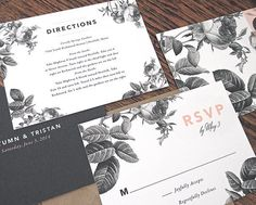 Painterly Floral Wedding Invitations by Rachel Marvin Creative
