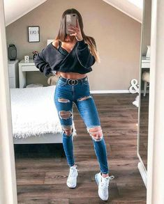 Casual Fall Outfits That Will Make You Look Cool – Fashion, Home decorating Casual School Outfits, Teenage Girl Outfits, Cute Comfy Outfits, Summer Fashion Outfits, Girly Outfits, Simple Outfits, Outfits For Teens, Stylish Outfits, Fall Outfits