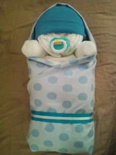 "Bundled Baby Diaper Cake from ""My Baby Cakes"" www.mybabycakes12... or like us on Facebook ""My Baby Cakes"" or www.facebook.com/mybabycakes1213 or Follow us on Twitter @Mybabycakes1"