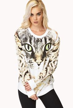 Bold Cat Sweatshirt   FOREVER21 - 2031557966  I only like that this is super realistic, I would never wear this unless it was only in my house