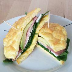 Cloud bread breakfast
