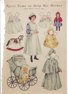Antique paper dolls and paper toys to make - Joyce hamillrawcliffe - Picasa Web Albums Old Paper, Paper Art, Paper Crafts, Doll Museum, Vintage Nurse, Vintage Paper Dolls, Online Collections, Paper Toys, Beautiful Dolls