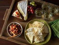 Brie with Chilean Grape Salsa and Tortillas
