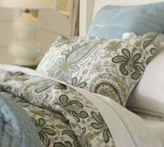 Charlie duvet in Blues and Greens | Pottery Barn