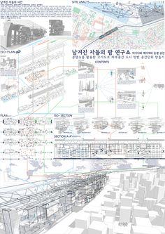 Architecture Board, Collage Illustration, Type Setting, Future City, Sketch Design, Sustainability, Kindergarten, Presentation, Diagram