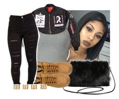 """"""""""" by eazybreezy305 ❤ liked on Polyvore featuring Torrid, NIKE, Maison Margiela, simpleoutfit, Trendy and 2016"""