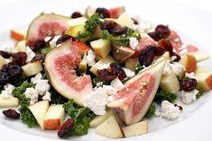 Salat med friske figner og grønkål