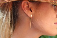 Boucles d oreille Stars or rose by perles d'Au