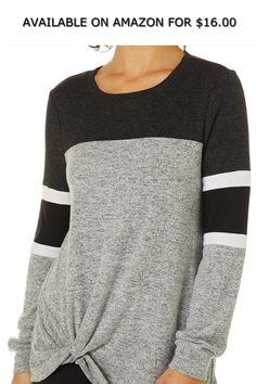 WSPLYSPJY Mens Stretchy Crew Neck Color Block Long Sleeve Sweater