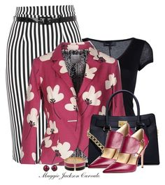 """""""Floral Blazer"""" by maggie-jackson-carvalho ❤ liked on Polyvore featuring Diesel Black Gold, Eggs, MICHAEL Michael Kors, Fendi, Jimmy Choo and Lanvin"""