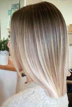 15 Must-See Straight Hairstyles for Short Hair: #3. Ombre Blonde Hair #beautyhairstyles