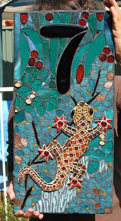 Lizard Housenumber | Flickr - Photo Sharing! mosaic number