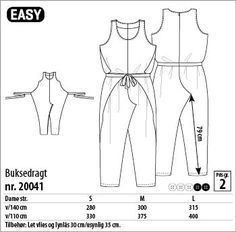 Buksedragt - 20041 - Stof & Stil